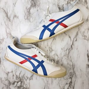 Onitsuka Tiger DL408 White Blue Red Mexico 66 10.5
